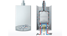 Wall hung gas boilers
