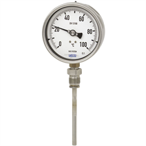 Gas-actuated thermometer, lower mount, model R73